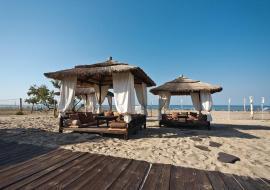 Пляжный отдых 60 метров от моря